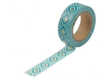 Green gold foil washi tape
