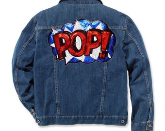 Pop Art Sequin Patches Large Patches For Jackets