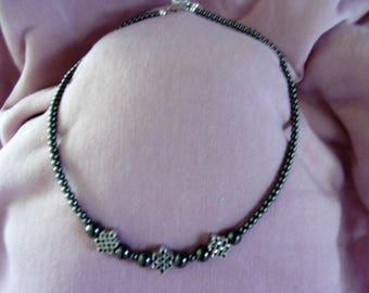 16 inch Hematite choker