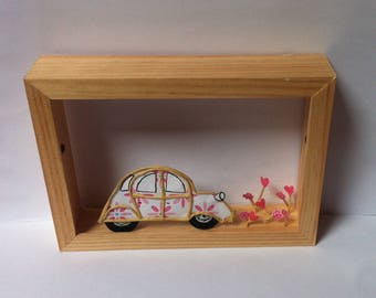 paper sculptures, wire kraft armed wooden stand