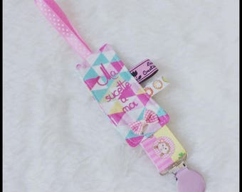 "Pacifier triangles cotton ""My lollipop to me"""