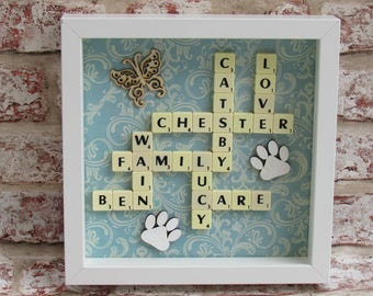 """Personalised Scrabble Frames 8 x 8"""""""