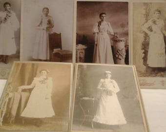 Antique photos  of young ladies