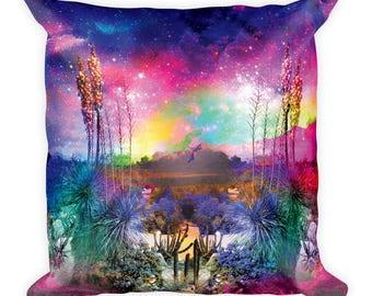 Cactus Print, Decorative Space Desert throw pillow cover, Pink Pillow, Accent Pillows, Throw Pillow, Colorful Pillow Case, Couch Pillow