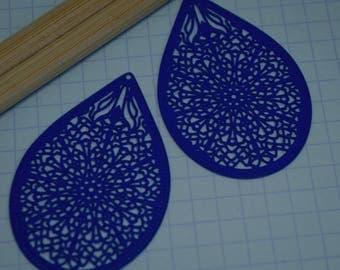 2 filigree - Roy - Sun blue prints: 32X48MM # 667