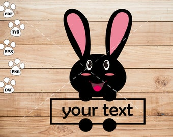 Happy Rabbit SVG File, Rabbit baby Clipart, cricut, cameo, silhouette cut files commercial & personal use