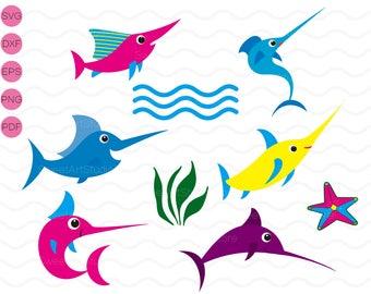 Under the sea Clipart , Dorado , Starfish Svg,  cricut, cameo, silhouette cut files commercial & personal use
