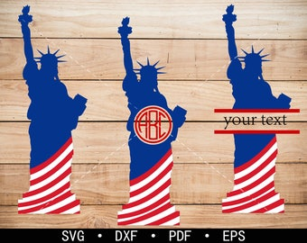 Liberty statue svg Files, Liberty statue Monogram Frame, Workout Clipart, cricut, cameo, silhouette cut files commercial & personal use
