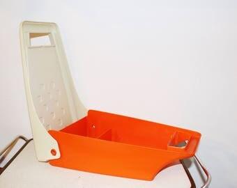 Vintage Orange Box from 70's, Vintage Storage Box
