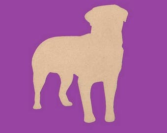 Stand to decorate medium MDF, Rottweiler dog