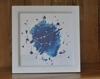 Capricorn Star Sign Framed Artwork