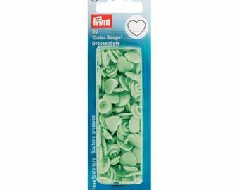 Prym Mint Color snaps 393 319 heart snaps