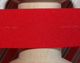 Sold by the yard - 8 304 - couture red bias