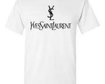Yves Saint Laurent White T-Shirt