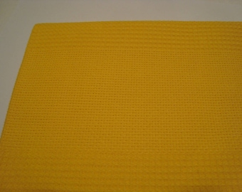Yellow embroidery towel