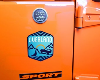 Blue Overland Decal
