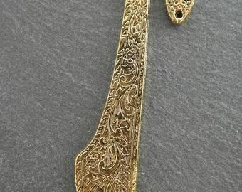 1 antique gold color 81 mm bookmark engraved bookmarks