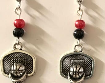 Basketball Goal Earrings