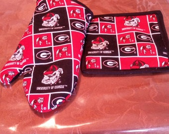 Georgia Bulldogs potholder set