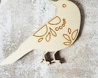 Bird 853 embellishment wooden creations