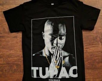 Tupac Praying Hands tshirt