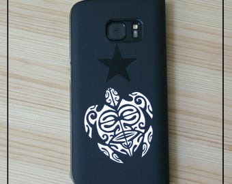 "3 Stickers ""Sea turtle"" tattoo style maori to decorate your belongings, your car...!"