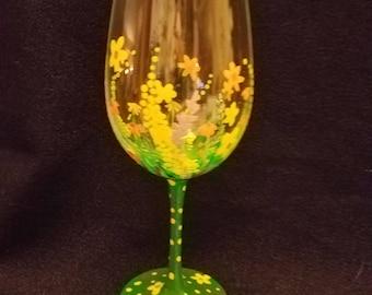 Wild About Wildflowers Wine Glass