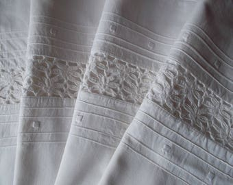 Very beautiful pillow case with entredeux and pretty embroidery
