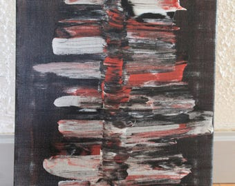 Abstract painting red black
