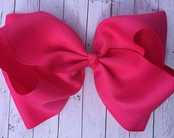 Hot Pink Large JoJo Style Hair Bow