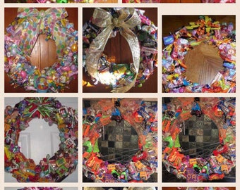 Edible candy wreath Etsy