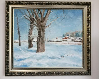 Free Shipping! Oil Painting,Landscape, Original Art, 50/60CM, 19.7/23.6Inches.Not include outer frame