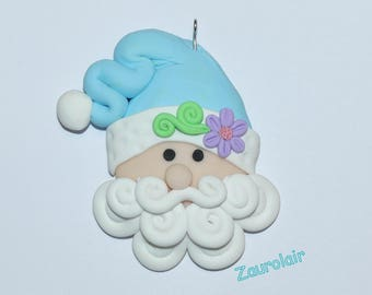 Christmas Ornament - Santa Claus Polymer Clay