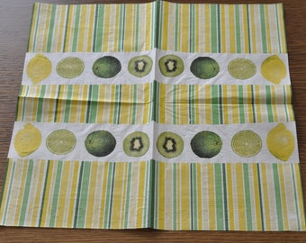 kiwi and lemon theme paper towel