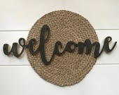 Welcome cutout | 3D Word | word cutout | wooden sign | farmhouse sign