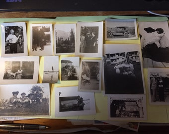 1920's and 1930's Black and White photographs...Some sepia  colored--5 pages of them-grp. #5
