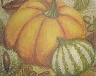 044 pumpkin napkin