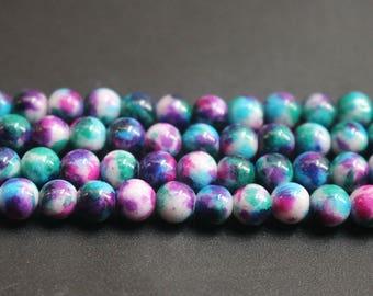 6mm 8mm 10mm Mountain Jade Round Beads,16 inch per strand.