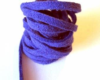 Blue 3mm (130cm) suede cord
