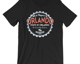 What Happens In Orlando Stays T-Shirt, Orlando Florida 2018 Spring Break Vacation Tee Shirt, Orlando Spring Break TShirt Gift