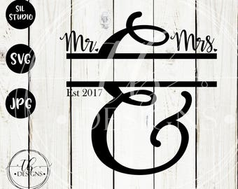 Mr Mrs SVG, Established Name Svg, Wedding Svg, Last Name SVG, Personalized Name SVG, Custom Name Svg, Family Established Svg, Svg files