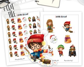 Printable Harry Potter Stickers, Harry Potter Stickers, Harry Potter Planner Printable Stickers, Erin Condren, ECLP, Harry Potter, Wizard