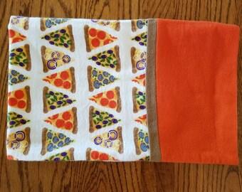 Flannel Pillowcase- Pizza