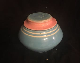 Cotton Candy Colored Lidded Vase