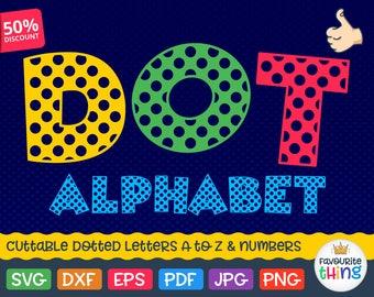 Dot Letters Svg Dotted Font Svg Dotted Monogram Svg Cuttable Cricut Alphabet Svg Png Eps Dxf Silhouette Font Instant Download Vinyl fonts