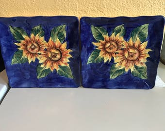 Sunflower display plates
