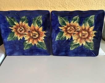 Sunflower display plates
