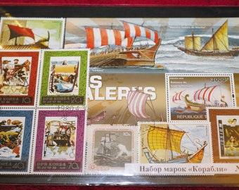Sailboats Postage Stamps. Unused.
