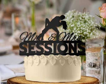 Personalized Tango Dance Couple Mr and Mrs Cake Topper