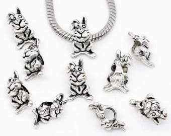 Pandora charm silver rabbit bunny animal charm for all Pandora charm bracelets and general jewellery craft making Christmas gift